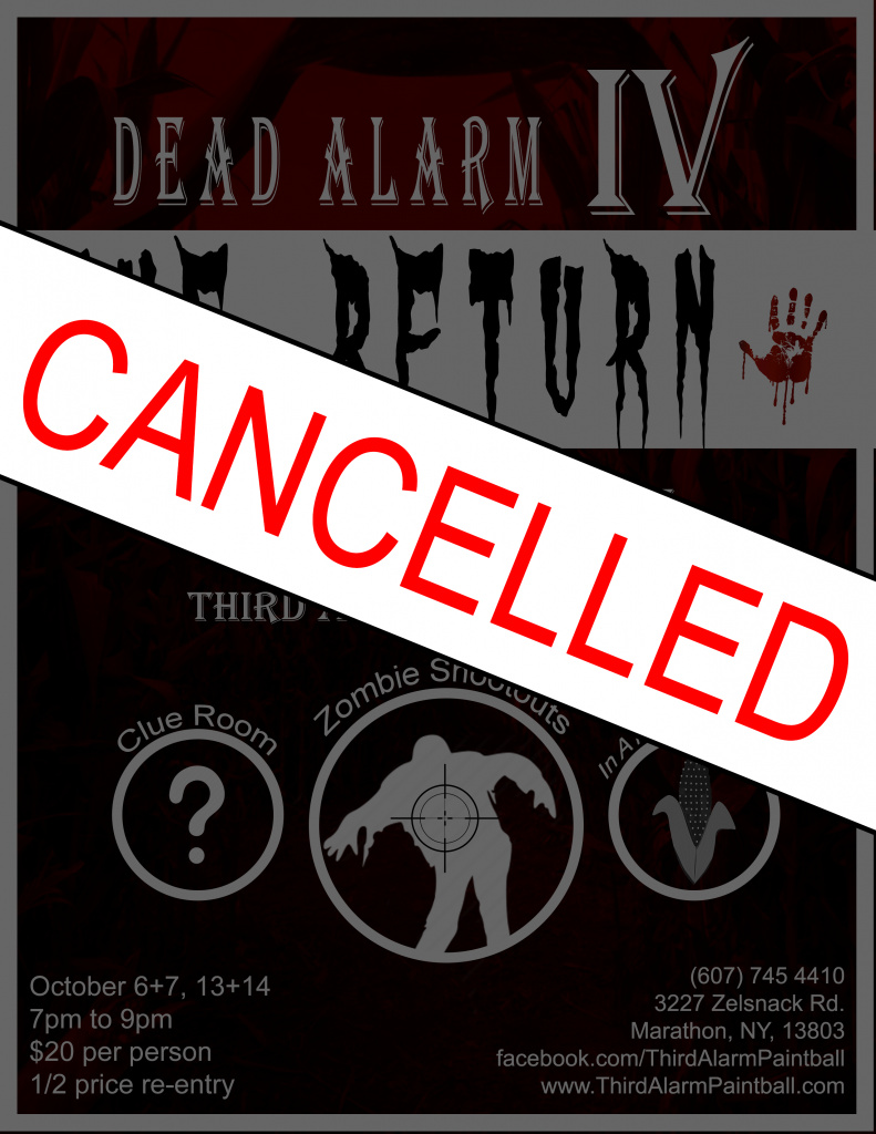 Third Alarm Paintball's Fourth Dead Alarm Halloween Event Has Been Cancelled